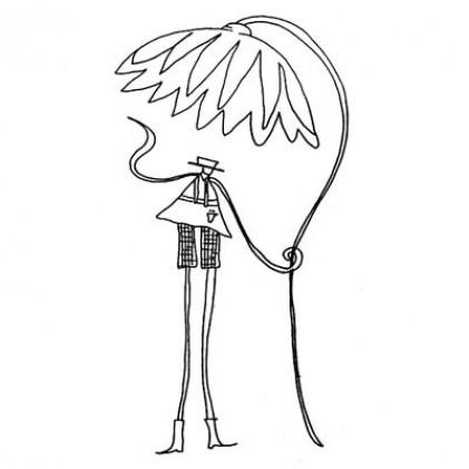 American Art Stamp - Flower Umbrella