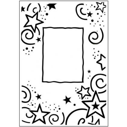 Crafts Too Hintergrund-Prägeschablone - Stars Frame