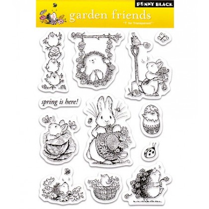 Penny Black Clear Stamps - Garden Friends