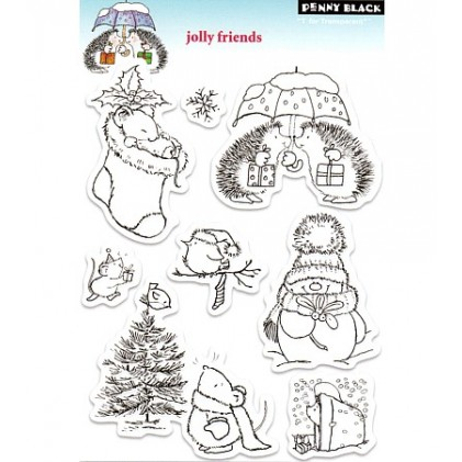 Penny Black Clear Stamps - Jolly Friends