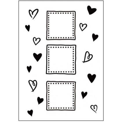 Crafts Too Hintergrund-Prägeschablone - Hearts & Frames