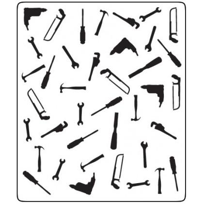 Crafts Too Hintergrund-Prägeschablone - Tools 12,5 x 15