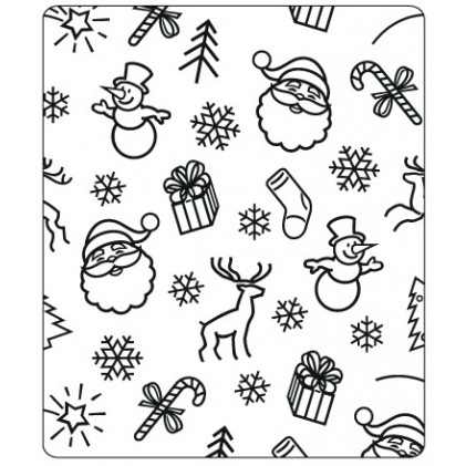 Crafts Too Hintergrund-Prägeschablone - Christmas BG 12,5 x 15