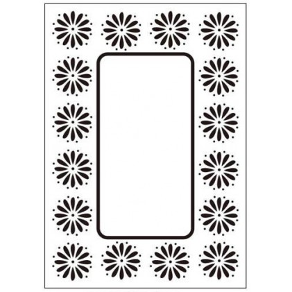 Crafts Too Hintergrund-Prägeschablone - Daisy Frame
