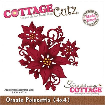CottageCutz Stanze - Ornate Poinsettia (4x4)