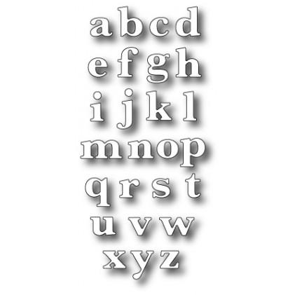 Memory Box Stanzschablone - Classic Lower Alphabet