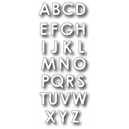 Memory Box Stanzschablone - Parker Upper Alphabet