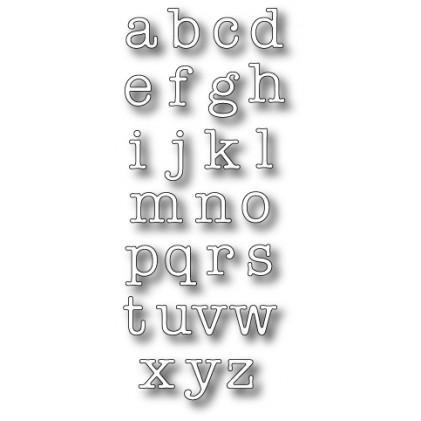 Memory Box Stanzschablone - Typewriter Lower Alphabet