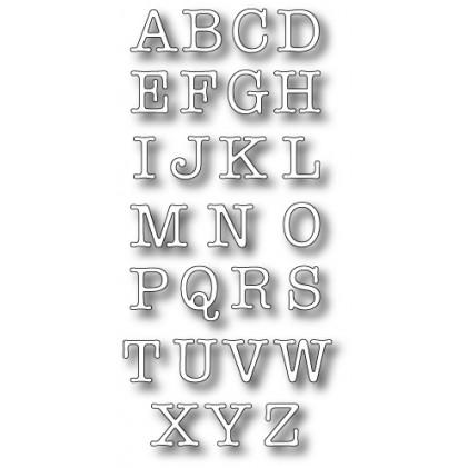 Memory Box Stanzschablone - Typewriter Upper Alphabet