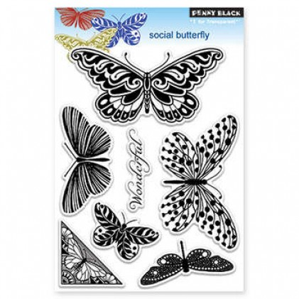 Penny Black Clear Stamps - Social Butterfly