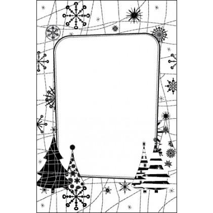 Crafts Too Hintergrund-Prägeschablone - Snow Tree