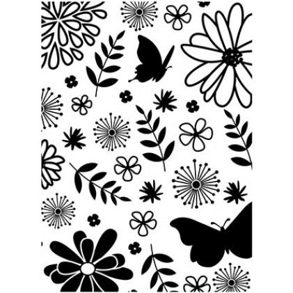 Darice Hintergrund-Prägeschablone - Floral