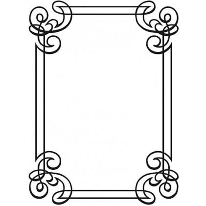 Darice Hintergrund-Prägeschablone - Ornate Frame