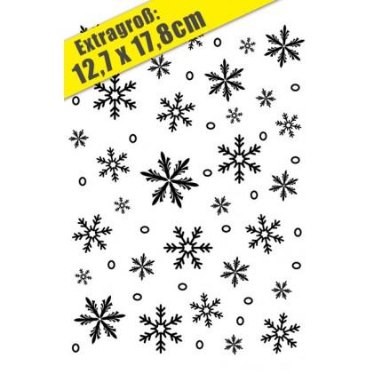 Darice Hintergrund-Prägeschablone GROSS - Snowflake Background