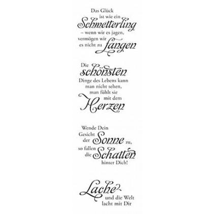 """Karten-Kunst Clear Stamp Set - Weise Worte """"Glück"""""""