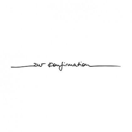"""Karten-Kunst Schriftzug \""""Zur Konfirmation\"""" (Anne)"""