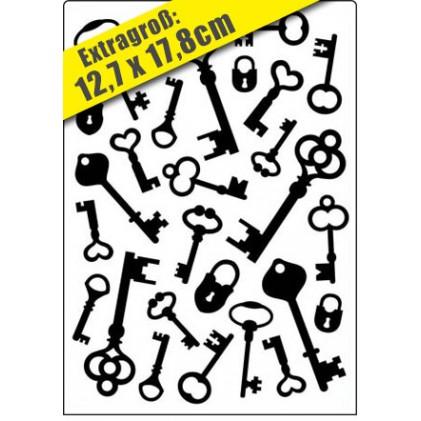 Crafts Too Hintergrund-Prägeschablone GROSS - Keys