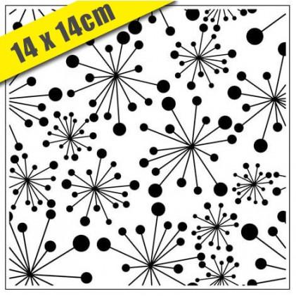 Crafts Too Hintergrund-Prägeschablone - 3105 Dandelions 14 x 14