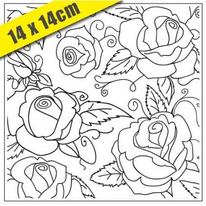 Crafts Too Hintergrund-Prägeschablone - 3107 Roses 14 x 14 cm