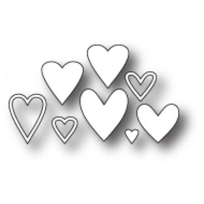 Memory Box Stanzschablone - Mini Heart Collection