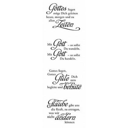 """Karten-Kunst Clear Stamp Set - Weise Worte \""""Glaube\"""""""