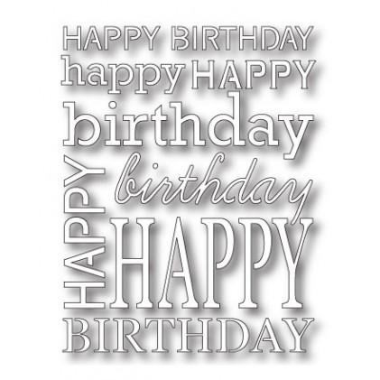 Poppy Stamps Stanzschablone - Happy Birthday Background