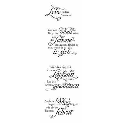 """Karten-Kunst Clear Stamp Set - Weise Worte \""""Leben\"""""""