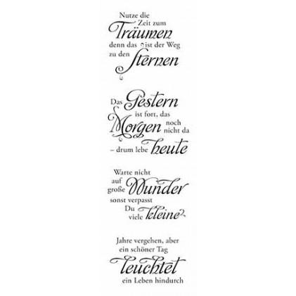 """Karten-Kunst Clear Stamp Set - Weise Worte \""""Zeit\"""""""