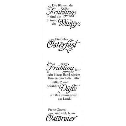 "Karten-Kunst Clear Stamp Set - Weise Worte ""Frühling"""