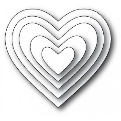 Memory Box Open Studio Stanzschablone - Cherub Hearts