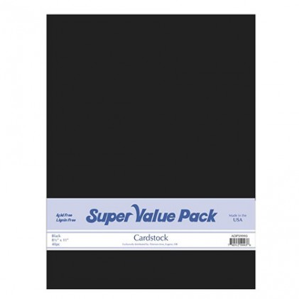 Paper Accents Cardstock Super Value Pack Black 40 Blatt