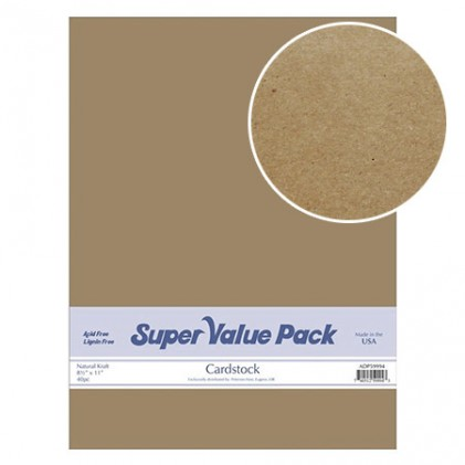 Paper Accents Cardstock Super Value Pack Kraft 40 Blatt