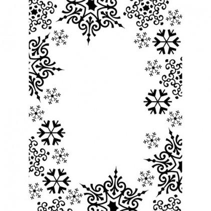 Darice Hintergrund-Prägeschablone - Snowflake Trim