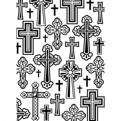 Darice Hintergrund-Prägeschablone - Crosses