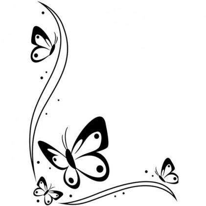Darice Hintergrund-Prägeschablone - Butterflies in Corner