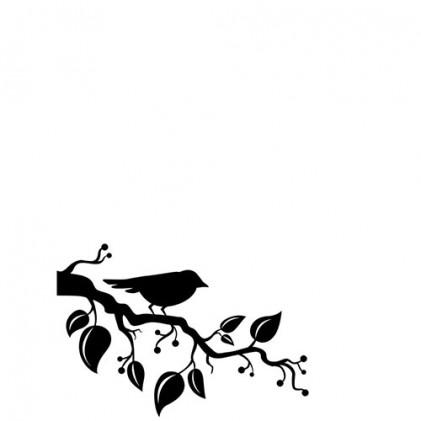 Darice Hintergrund-Prägeschablone - Bird On Branch Corner