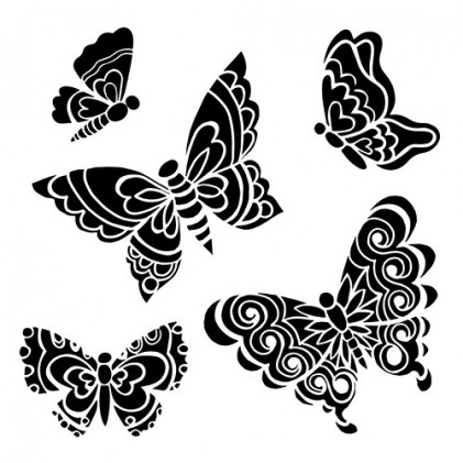 "Crafter\'s Workshop Template 6""X6\"" - Solid Butterflies"
