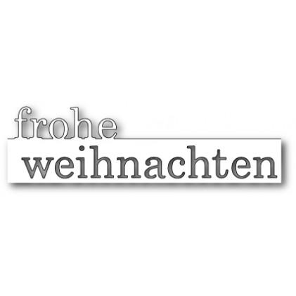 Memory Box Stanzschablone - Grand Frohe Weihnachten