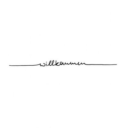 """Karten-Kunst Schriftzug \""""Willkommen\"""" (Anne)"""