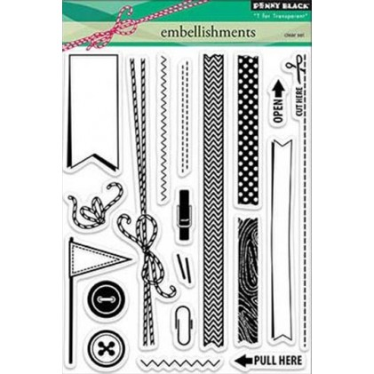 Penny Black Clear Stamps - Embellishments