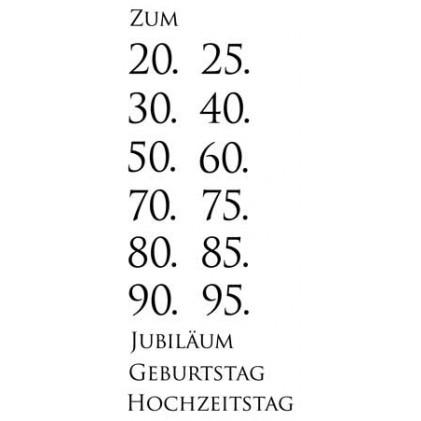 Karten-Kunst Clear Stamp Set - Jubiläum