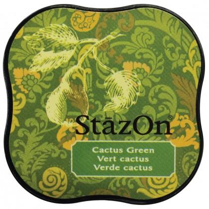 StazOn Midi Ink Pad Stempelkissen - Cactus Green