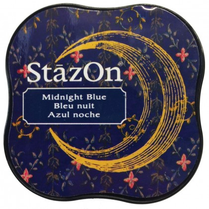 StazOn Midi Ink Pad Stempelkissen - Midnight Blue