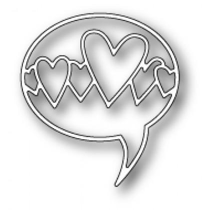 Poppy Stamps Stanzschablone - Heart Word Balloon