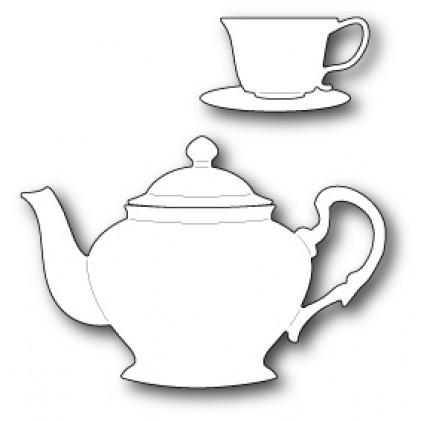 Poppy Stamps Stanzschablone - Ornate Tea Set