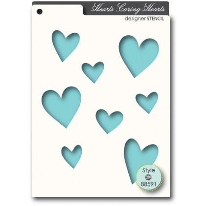 Memory Box Stencil 10x15cm - Hearts Caring Hearts