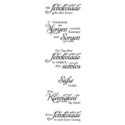 """Karten-Kunst Clear Stamp Set - Weise Worte \""""Schokolade\"""""""