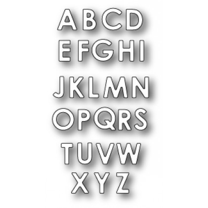 Memory Box Stanzschablone - Upper Case Alphabet Soup