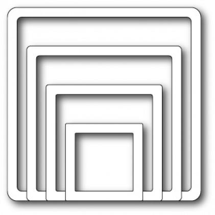 Memory Box Open Studio Stanzschablone - Shaker Square Frames