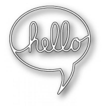 Poppy Stamps Stanzschablone - Hello Word Balloon